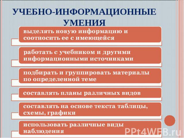 Учебно-информационные умения