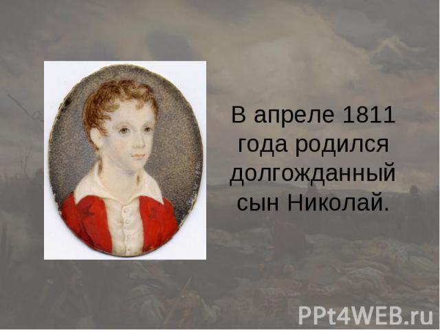 В апреле 1811 года родился долгожданный сын Николай.