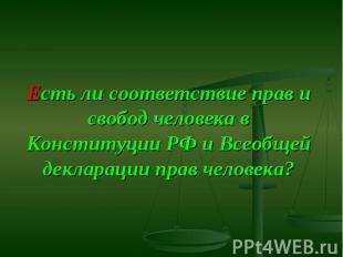 Есть ли соответствие прав и свобод человека в Конституции РФ и Всеобщей декларац