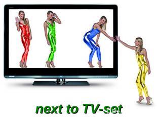 next to TV-set