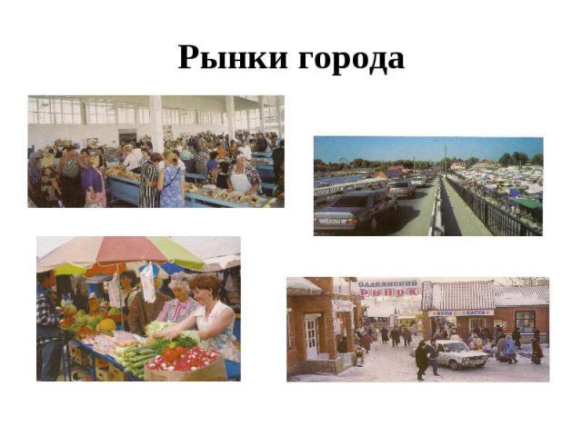 Рынки города