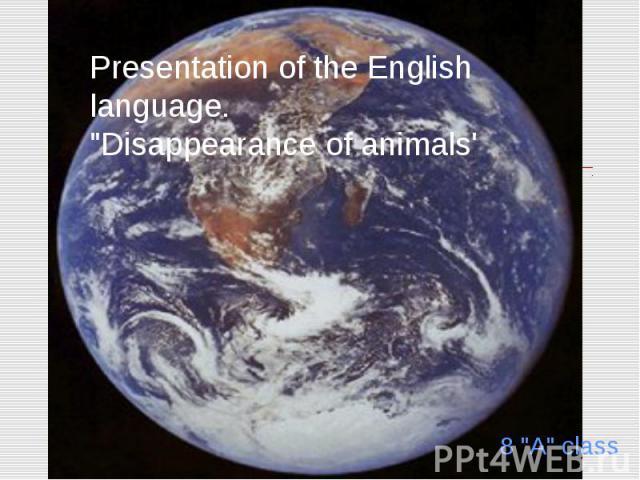 Presentation of the English language.