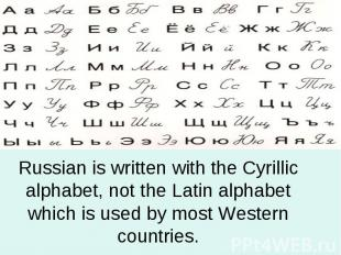 Russian is written with the Cyrillic alphabet, not the Latin alphabet which is u
