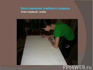 Изготовление учебного плаката Этап первый: эскиз