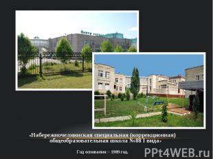 «Набережночелнинская специальная (коррекционная) общеобразовательная школа №88 I