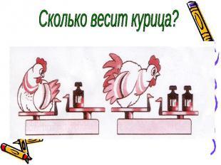 Сколько весит курица?
