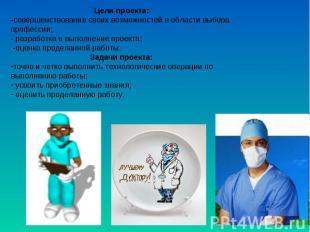 Цели проекта: -совершенствование своих возможностей в области выбора профессии;