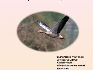 Презентация рассказа Виктора Петровича Астафьева «Пролетный гусь» выполнена учит