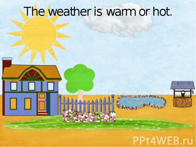 The weather is warm or hot.