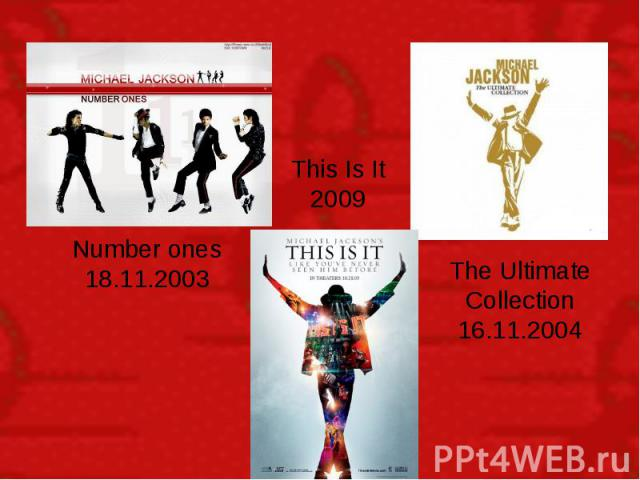 Number ones 18.11.2003 This Is It 2009 The Ultimate Collection 16.11.2004