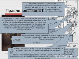 Правление Павла I При Павле I Россия стала участницей 2-й антифранцузской коалиц