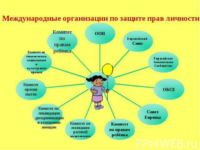 Международные организации по защите прав личности