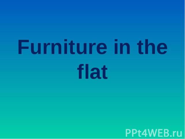 Furniture in the flat