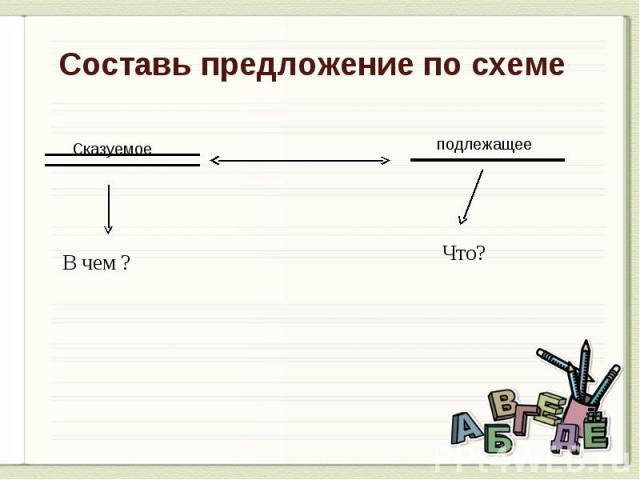Составь предложение по схеме