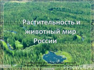 Растительность и животный мир России Горельченкова Т.И. учитель географии и биол