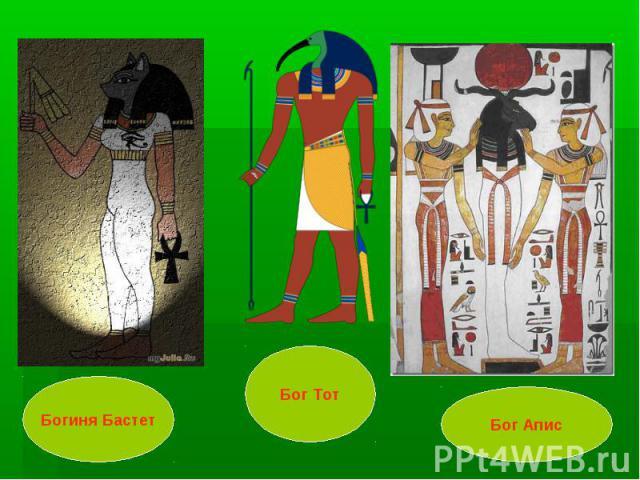 Богиня Бастет Бог Тот Бог Апис