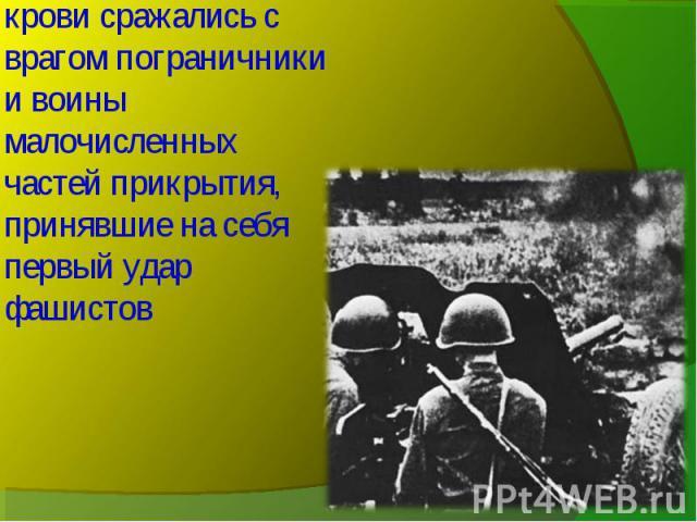 До последней капли крови сражались с врагом пограничники и воины малочисленных частей прикрытия, принявшие на себя первый удар фашистов