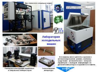 Лаборатория холодильных машин Разборные конструкции поршневых и спиральных компр