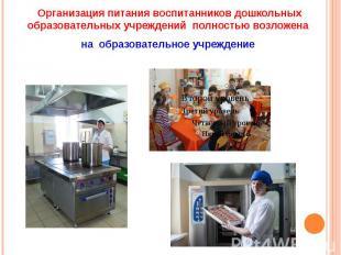 Организация питания воспитанников дошкольных образовательных учреждений полность
