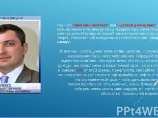 """Принцип """"амнистии капитала"""" или """"нулевой декларации"""" может быть применен в Украи"""