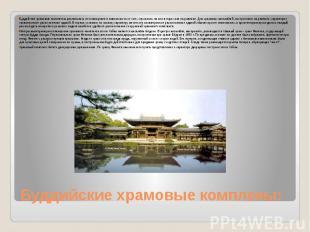 Буддийские храмовые комплекы: Буддийские храмовые комплексы различались по плани