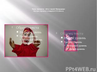 Тема проекта: «Кто такой Петрушка» Авторы проекта: учащиеся 4 В класса
