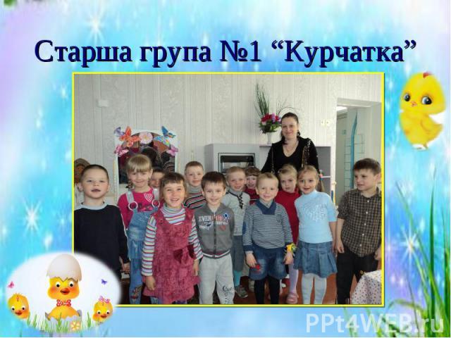 """Старша група №1 """"Курчатка"""""""
