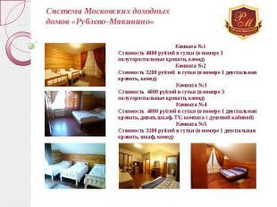 Система Московских доходных домов «Рублево-Мякинино»