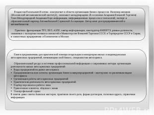 Владислав Васильевич Волгин - консультант в области организации бизнес-процессов
