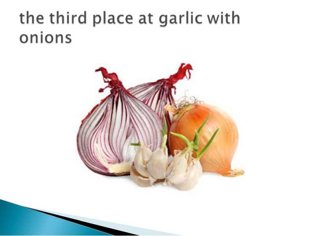 the third place at garlic with onions