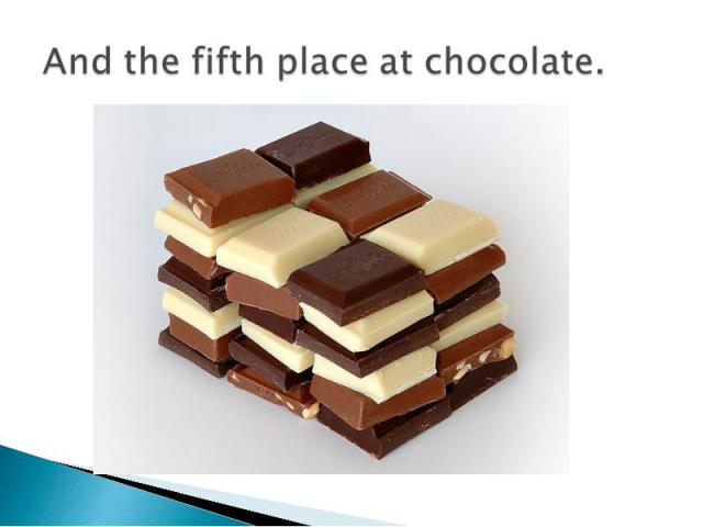 And the fifth place at chocolate.