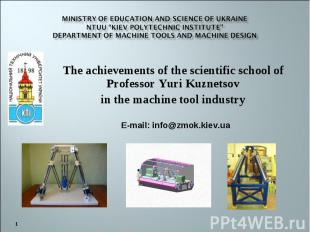 "Ministry of Education and Science of Ukraine NTUU ""Kiev Polytechnic Institute"" d"