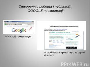 Створення, робота і публікація GOOGLE презентації Як опублікувати презентацію на