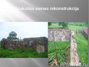Sabrukušās sienas rekonstrukcija