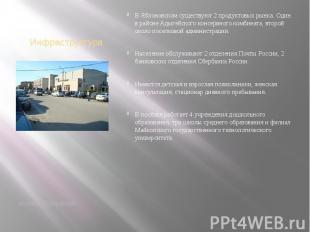 Инфраструктура поселок Яблоновский