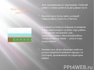 Флаг Чойского района