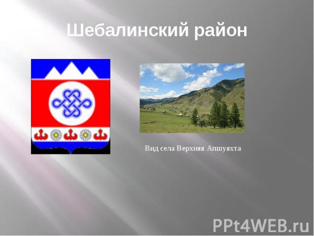 Шебалинский район