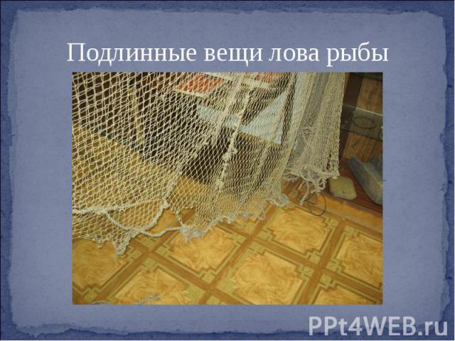 Подлинные вещи лова рыбы