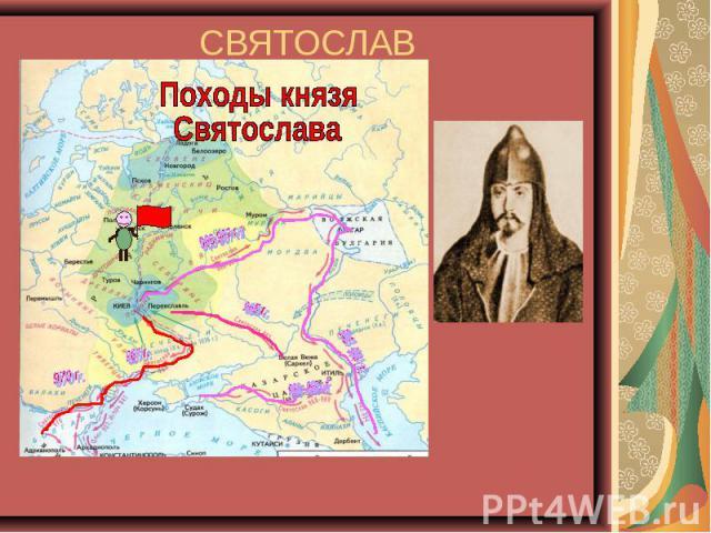 СВЯТОСЛАВ 962-972гг. Походы князя Святослава