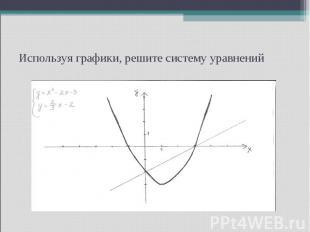 Используя графики, решите систему уравнений