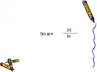 Sin α =