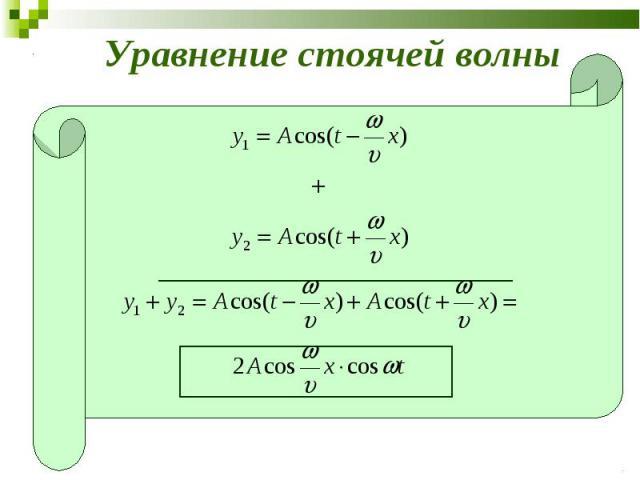 Уравнение стоячей волны