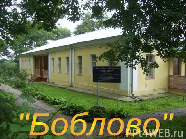 Отчет по экскурсии в усадьбу Менделеева