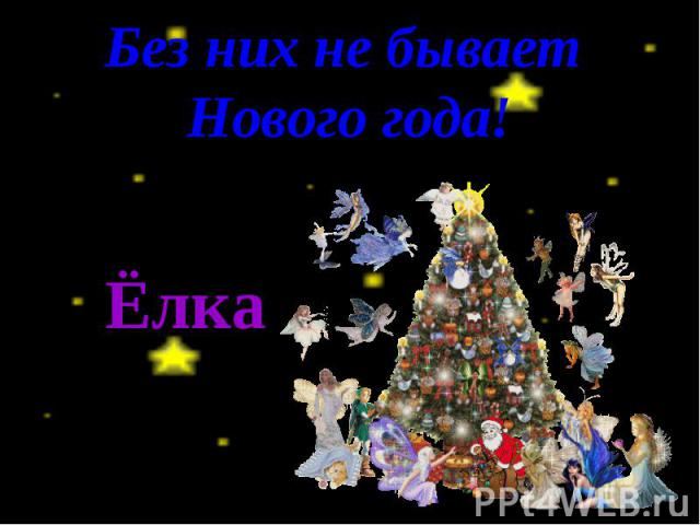 Без них не бывает Нового года! Ёлка