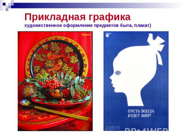 Прикладная графика художественное оформление предметов быта, плакат)