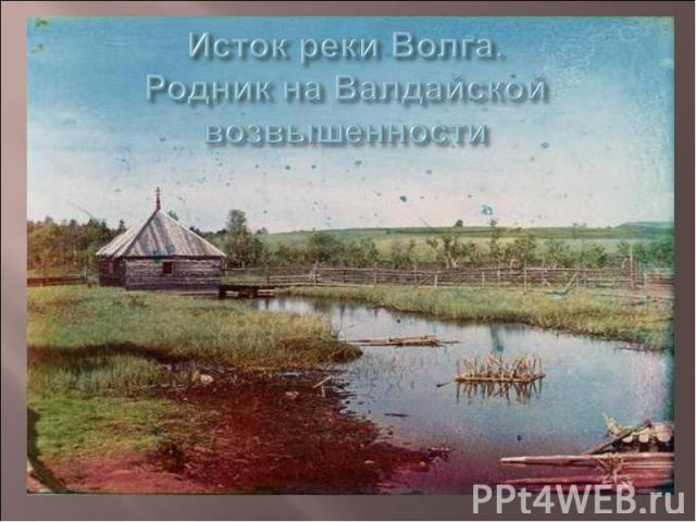 Исток реки Волга. Родник на Валдайской возвышенности