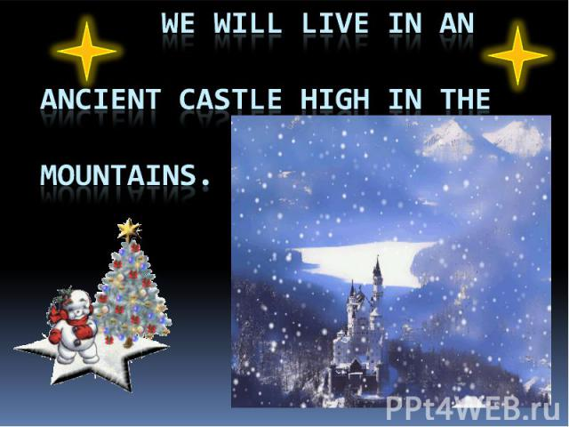 we will live in an ancient castle high in the mountains.