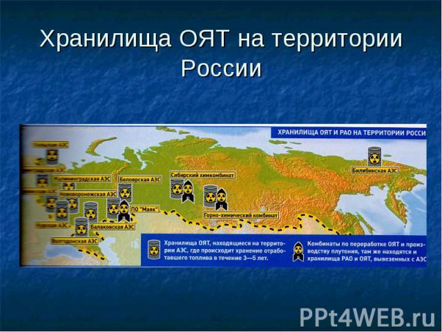 Хранилища ОЯТ на территории России