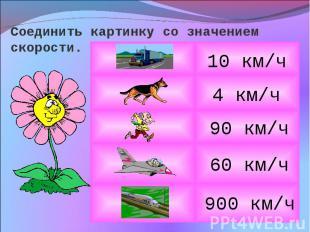 Соединить картинку со значением скорости.