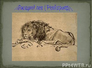 Лежащий лев ( Рембрандт)